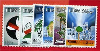 n°321/326** - Timbre LIBAN  Poste