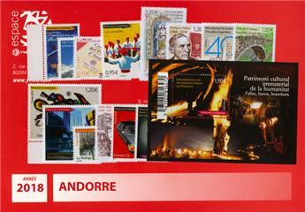 n.o 777/791 -  Sello Andorra A?o completo (2016)