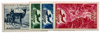n°1/4* - Timbre ANDORRE Poste Aérienne