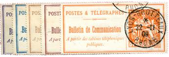 n°22,24,25,26,27 obl. TB - Timbre FRANCE Téléphone