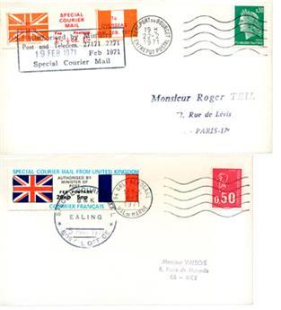 France : Grève courrier FR-Angleterre 1971
