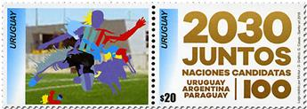 n° 2891 - Timbre URUGUAY Poste