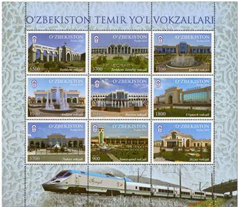 n° 1139/1147 - Timbre OUZBEKISTAN Poste