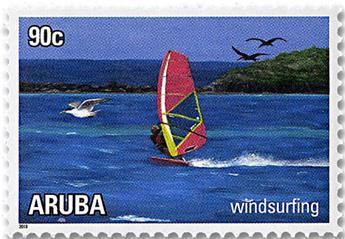 n° 1018/1023 - Timbre ARUBA Poste