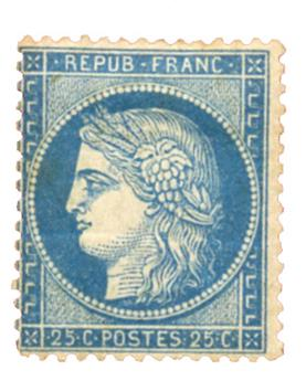 n°60A* - Timbre FRANCE Poste