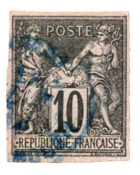 n°40 obl. - Timbre COLONIES FRANCAISES Poste