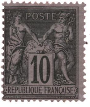 n°89* - Timbre FRANCE Poste