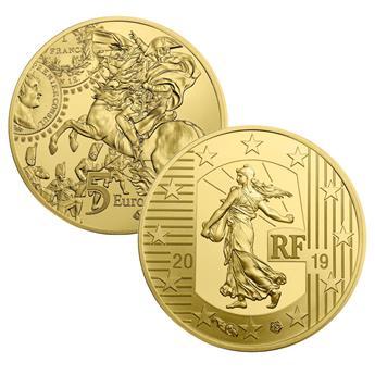 BE : 5 EUROS OR - FRANCE 2019 - FRANC GERMINAL