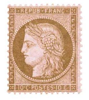 n°58* - Timbre France Poste