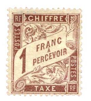 n°25(*) - Timbre France Taxe