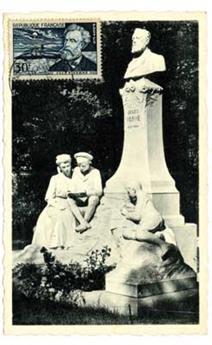 n°1026 obl.  sur carte - Timbre France Poste