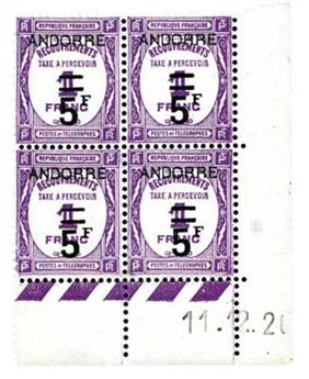 n°15** - Timbre Andorre Taxe