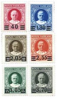n°60/65* - Timbre Vatican Poste