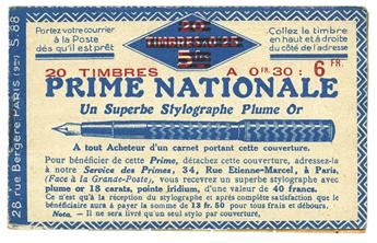 n° 191-C1 - Timbre France Carnets (Stylo)