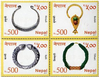 n° 1220/1223 - Timbre NEPAL Poste