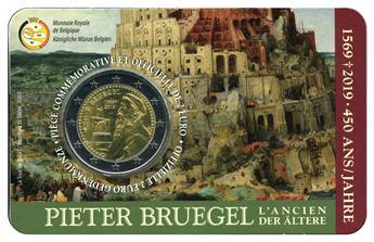 BU : 2 EURO COMMEMORATIVE 2019 : BELGIQUE - 450 ans de la mort de Pieter Brughel (Version francophone)