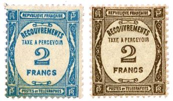 n°61/62* - Timbre FRANCE Taxe