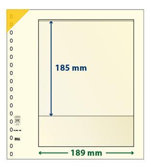 Feuille neutre LINDNER-T : 1 bande-802103 (x10)