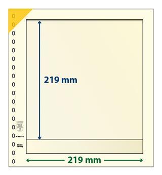 Feuille neutre LINDNER-T : 1 bande-802110 (x10)