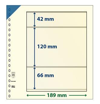 Feuille neutre LINDNER-T : 3 bandes-802308P (x10)