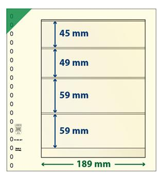 Feuille neutre LINDNER-T : 4 bandes-802407 (x10)-Hors cat.