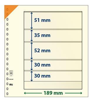 Feuille neutre LINDNER-T : 5 poches-802507 (x10)