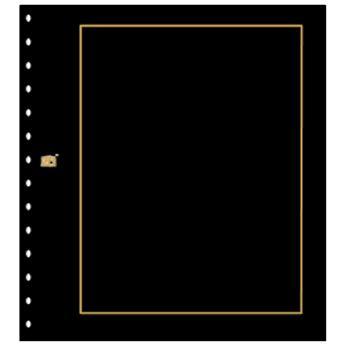 FEUILLES NEUTRES : Noires avec cadre or (x10) SAFE® (Hors cat. / Ref 793)