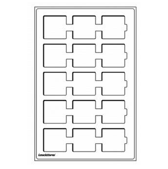 Plateaux L : 15 cases pour cadres cartonnés jusqu'à 50x50 mm (Rouge) LEUCHTTURM