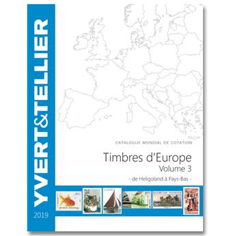 EUROPE Volume 3 - 2019 (Catalogue des timbres des pays d´Europe de H à P)