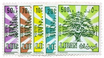 n°310/314** - Timbre LIBAN Poste