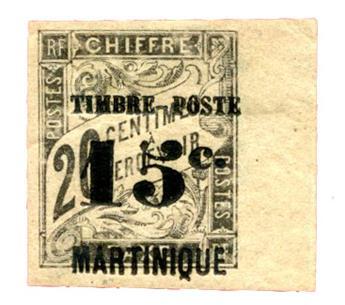 n°21* - Timbre MARTINIQUE Poste