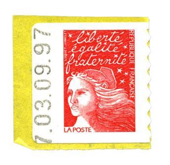 n.o 15a -  Sello Francia Autoadhesivos