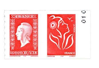 n° P66 -  Selo França Autoadesivos