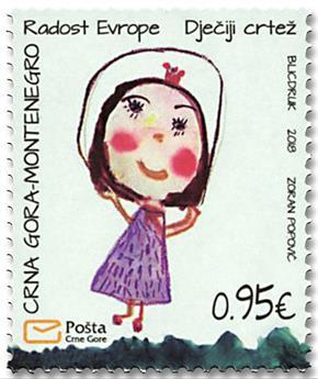 n° 423 - Timbre MONTENEGRO Poste