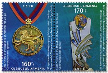 n° 926/927 - Timbre ARMENIE Poste