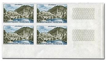 n° 1150a (ND) - Timbre France Poste (Non dentelé en bloc de 4)