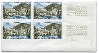 n° 1050a (ND) - Timbre France Poste (Non dentelé en bloc de 4)
