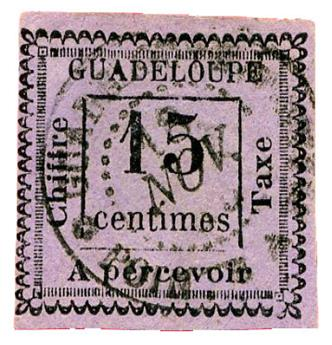 n°8 obl. - Timbre GUADELOUPE Taxe