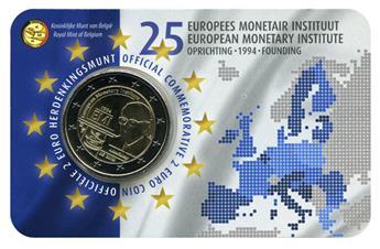 2 EURO COMMEMORATIVE 2019 : BELGIQUE - 25 ans EMI Institut Monétaire Européen (Version flamande)