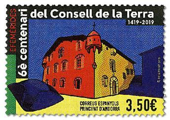 n° 467 - Timbre ANDORRE ESPAGNOL Poste