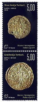 n° 453/454 - Timbre HERCEG-BOSNA Poste
