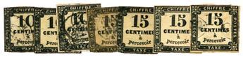 n°2 et 3 obl. - Timbre FRANCE Taxe