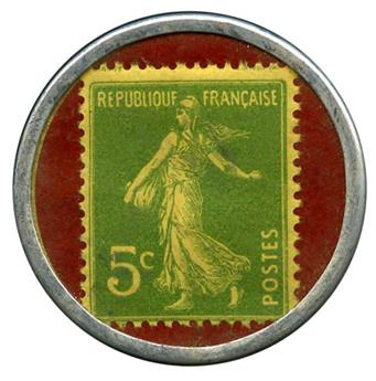 France : Timbre-monnaie Spidoleine.