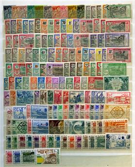 INDE FRANCAISE : Collection 1892/1952 **/*/obl.