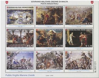 n° 1435/1443 - Timbre ORDRE de MALTE Poste