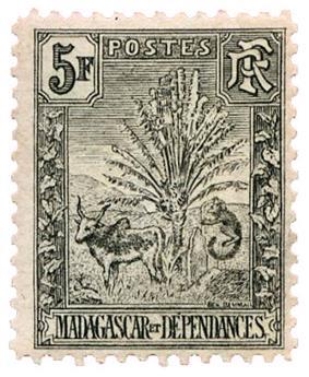 n°77* - Timbre MADAGASCAR Poste