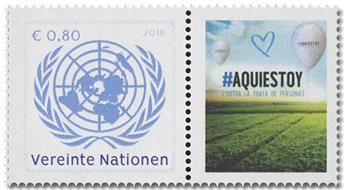 n° 995 - Timbre ONU VIENNE Poste