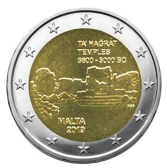 2 EURO COMMEMORATIVE 2019 : MALTE (Temples de Ta´ Hagrat)