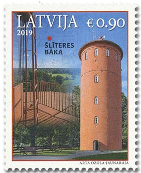 n° 1040 - Timbre LETTONIE Poste