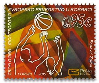 n° 373 - Timbre MONTENEGRO Poste